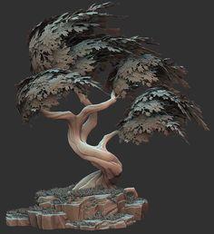 ArtStation - Stylized Tree, Ben Lewis