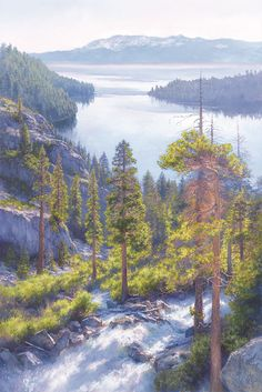 June Carey - Cascade of Light, Emerald Bay, Lake Tahoe