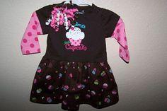 Baby Girl Cupcake  Brown Pink Polkadot Onesie by HodgePodgeBaby, $25.00