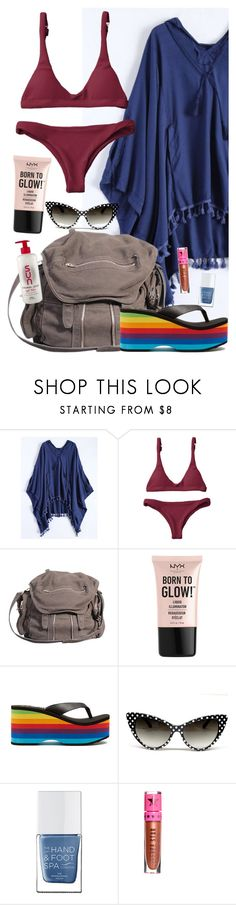 """It's a beautifully summer day"" by elliewriter ❤ liked on Polyvore featuring Alexander Wang, NYX, Rocket Dog, The Hand & Foot Spa and Jeffree Star"
