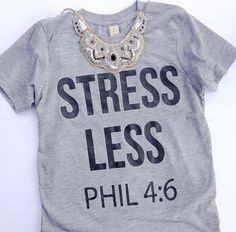Ready to Ship STRESS LESS womens tee by ShopTaylorTots on Etsy
