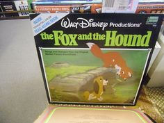 Fox and The Hound w/ Read Along Book Intact vinyl LP 1981 DisneyLand Records EX