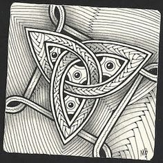 Enthusiastic Artist - Celtic triquetra as a string.