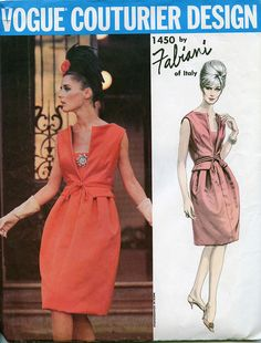 Vogue Couturier Design Sewing Pattern 1450 -  by Fabiani