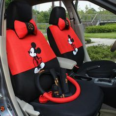 Mickey Mouse ,18pcs-autocar Front & Rear Seat Covers, Car Accessories, Automotive Car Seat Cushion,car Steering Wheel Cover(red+black) cj,http://www.amazon.com/dp/B00DNKXLXW/ref=cm_sw_r_pi_dp_aq4etb08Z9MA2AE4