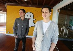 Evan Spiegel (left) and Bobby Murphy started Snapchat as Stanford classmates.