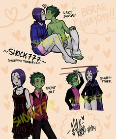Ravens Teen Titans BBRae Kiss | These Bbrae Sketches by shock777 on DeviantArt