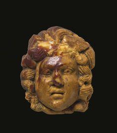 A Roman Amber Head of Medusa, circa Century A. A Roman Amber Head of Medusa Ancient Rome, Ancient Art, Amber Head, Fall Of Constantinople, Roman Artifacts, Ancient World History, Medusa Gorgon, Classical Mythology, Roman History