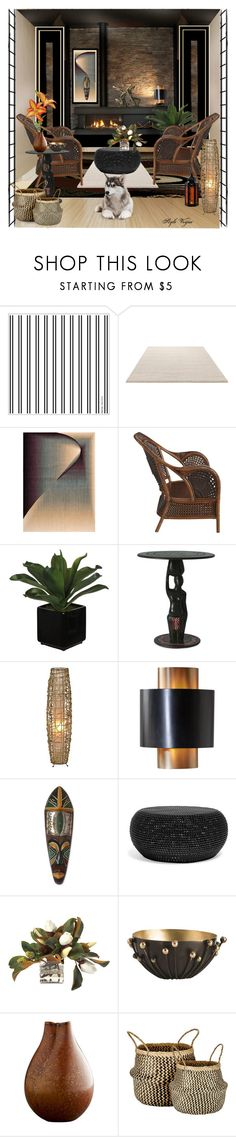 """""""Warmness"""" by lamipaz ❤ liked on Polyvore featuring interior, interiors, interior design, home, home decor, interior decorating, ESPRIT, Nourison, Pier 1 Imports and NOVICA"""