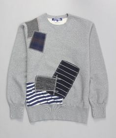 Junya Watanabe COMME Des GARCONS MAN patchwork on the classic crew sweater.. probably not worth the $ but still cool!