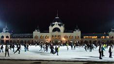 The huge open air Ice Rink of Budapest! ~3 euros to rent skates for an hour and ~4.5 euros for a full day ticket!