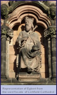 Egbert reigned 827-839   The first king of England