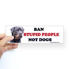 Rottweilers! Bumper Sticker