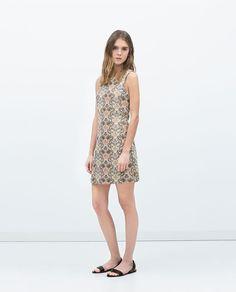 Image 1 of SLEEVELESS JACQUARD DRESS from Zara