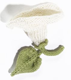 Knit Flower: Morning Glory Pattern.  Cute embellishment for hats or ...