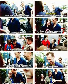 "Tom Hiddleston, ""I should be throwing you across the street right now."""