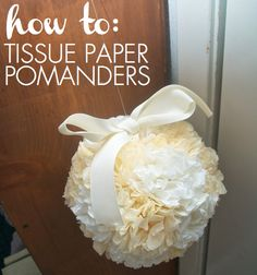 Great blog that outlines (in verdy perfectly detailed steps) how to make the most lovely pomander balls. Courtesy of: http://www.yourmoderncouple.com/
