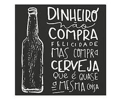 Placa Decorativa Cerveja - 20x20cm