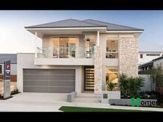 2 Storey House Design, House Front Design, Dream Home Design, Home Design Plans, Minimalist House Design, Modern House Design, Casas Containers, Dream House Exterior, Facade House