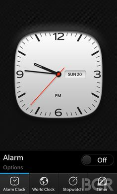 BB10 clock
