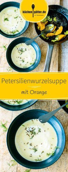 Kümmel, Dill und das fruchtige Aroma der frischen Orangen machen diese cremige Kartoffel-Petersiliensuppe zu etwas ganz Besonderem!