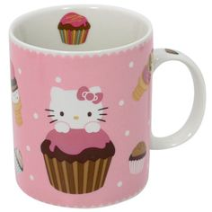 Adorable Hello Kitty mug from the Hello Kitty Cafe. #CoffeeMug #HelloKitty #HelloKittyCafe