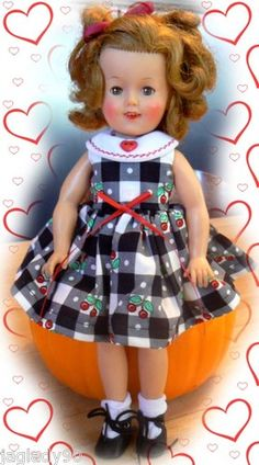 1950s Ideal Shirley Temple Doll St 12 A Beauty in Cherries Checks No Reserve   eBay