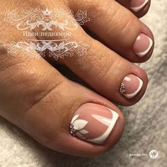 Flower Toe Nails, Gel Toe Nails, Toe Nail Art, Pretty Toe Nails, Cute Toe Nails, Pretty Toes, Blue Pedicure, Manicure And Pedicure, Pedicure Ideas