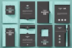 Business brochure Doodle background by Palau on Creative Market