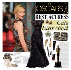 """""""Oscar Red Carpet: Go Glam!"""" by bklana ❤ liked on Polyvore featuring Mode, Alexander McQueen, ECCO, Elie Saab, LE VIAN, Dolce&Gabbana, Jimmy Choo, Marc Jacobs, Chanel und Bobbi Brown Cosmetics"""