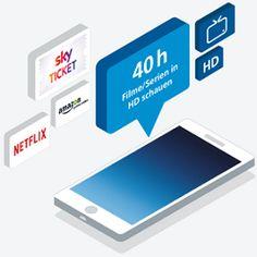 Mit dem o2 Free L 40 Stunden Filme und Serien in HD schauen