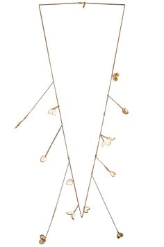 Shop for Chloe Keira Long Necklace in Golden Brass at FWRD. Arrow Necklace, Gold Necklace, Black N Yellow, Chloe, Jewelry Accessories, Brass, Charms, Image, Gold Pendant Necklace