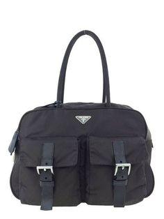 Prada Tessuto Front Pocket Satchel Bag