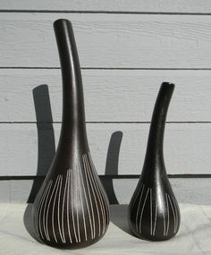Royal Haeger vases by Larry Laslo (purchased February, Pots, Vintage Ceramic, Pottery Art, Larry, Vases, Mid-century Modern, Candle Holders, Mid Century, Candles