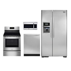 Frigidaire Stainless Steel 4-Piece Electric Gallery Kitchen Kit