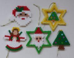 Perler Chrismas ornaments.
