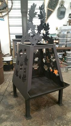 Welded custom fire pit Archetype metal creations