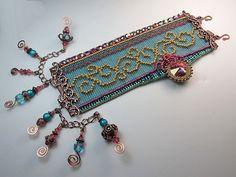 Beads Beading Beaded, with Erin Simonetti Seed Bead Jewelry, Metal Jewelry, Beaded Jewelry, Jewelry Crafts, Jewelry Art, Jewelry Design, Jewlery, Bead Loom Bracelets, Ankle Bracelets