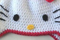 Cute Hello Kitty crochet hat pattern