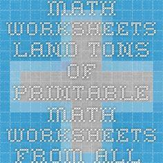 math worksheet : 1000 images about math on pinterest  math place values and fact  : Math Worksheet Land