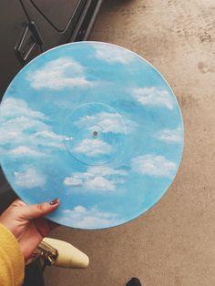 Vinyl Skies Is A Nice Surprise - Painting Kunst Inspo, Art Inspo, Aesthetic Painting, Aesthetic Art, Record Wall Art, Cd Art, Art Music, Ideias Diy, Vinyl Art