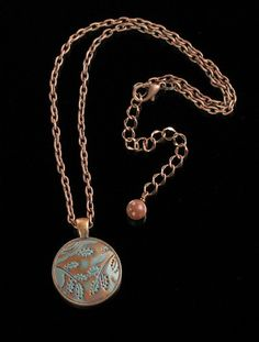 Polymer Clay  Jewelry  Clay Mokume Gane Pendant by mindfulmatters, $19.00