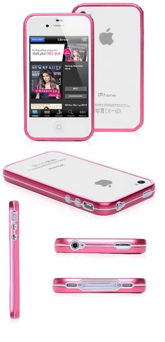 50% Discounted iPhone 4 Case - Magenta Metal Bumper Hard Case For iPhone 4 & iPhone 4S www.cellz.com $8.20 #iphone4 #50%discount #cases #promotional #cheap #price #clearance #sale #free #shipping #best #iphone #cases
