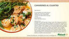 Camarones al cilantro