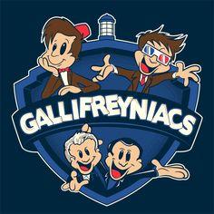 Gallifreyniacs T-Shirt $12 Doctor Who tee at Weekly Shirts!