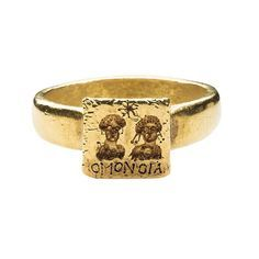 Gold Marriage Ring, 6th-7th century, Byzantine, gold