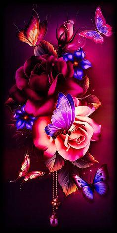 flower design wallpaper by - 04 - Free on ZEDGE™ Wallpaper Nature Flowers, Rose Flower Wallpaper, Fairy Wallpaper, Flowery Wallpaper, Dark Wallpaper Iphone, Flower Background Wallpaper, Beautiful Flowers Wallpapers, Beautiful Nature Wallpaper, Butterfly Wallpaper