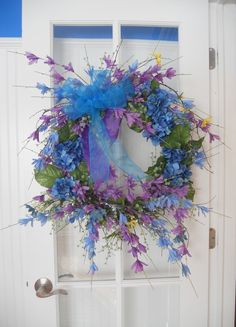 French Country Wreath Hydrangea Wreath by PebbleCreekDesigns