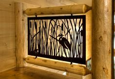 "Custom Cut Metal Art with ""Bulrush"" Theme"
