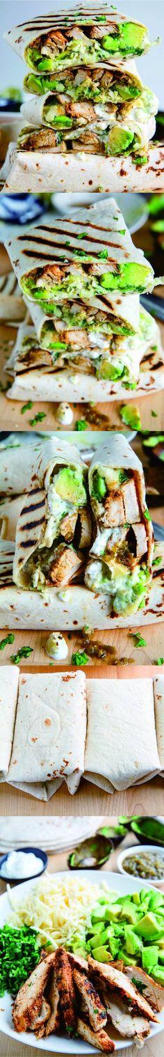 Chicken and Avocado Burritos - Healthy